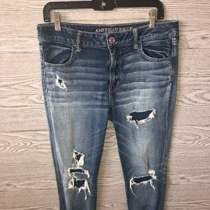 American Eagle Outfitters Jeans - American Eagle | Destroyed Stretch Jegging (Sz 14)